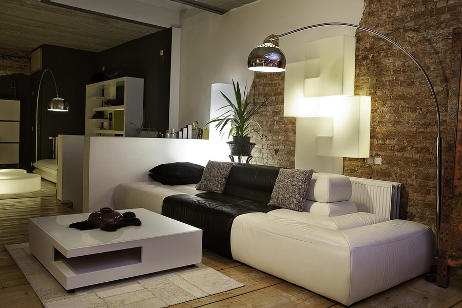 modern living room with design furniture