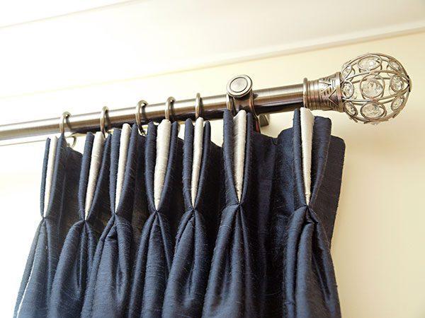 tripple pleat bespoke curtains