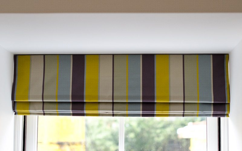 Colourful roman blind
